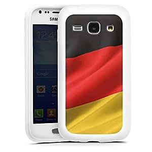 Samsung Galaxy Ace Funda Premium Case Protección cover Alemania Bandera Alemania
