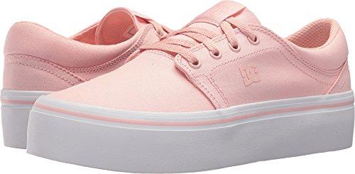 DC Women's Trase Platform TX Skate Shoe, Rose, 6.5 B US