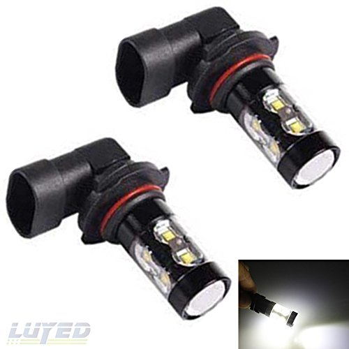 LUYED 2 x Super Bright High Power 50W 10 smd CREE XBD light source White Color 9006 HB4 LED Bulbs for Fog Lights