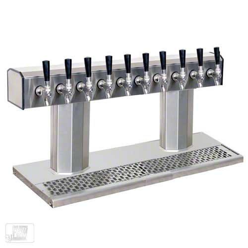 (Glastender (BT-10-SSR) - Stainless Steel 10-Faucet Tee Tower )