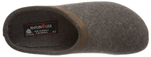 Haflinger Unisex Gzl In Pelle Con Finiture Grizzly Zoccoli Smokey Brown
