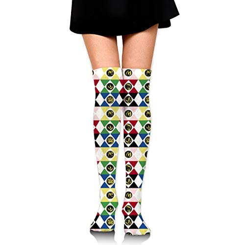 Power Rangers Womens Knee High Socks Long Socks Sport Socks Thin For Running,Medical,Athletic,Travel
