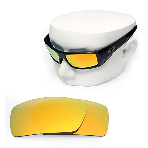 OOWLIT Replacement Sunglass Lenses for Oakley Gascan Fire Red Mirror - Sunglasses Gascan Lenses Oakley