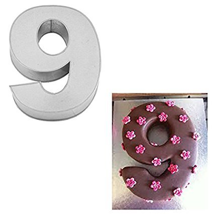 Large Number Nine Birthday Wedding Anniversary Cake Tins / Pans / Mould by Falcon 14