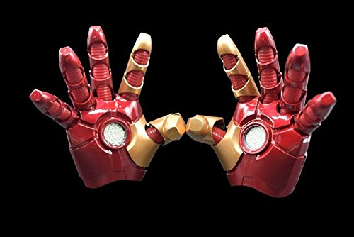 Cattoys 1/1 LED Armor Left & Right Glove For Iron Man MK XLII 42 Cosplay NEW (Iron Man Cosplay Armor)