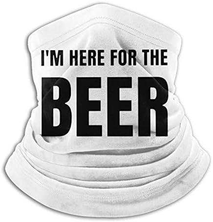 Im Here For The Beer ネックカバー 吸汗 通気 バンダナ 自転車用 フェイスガード 多機能 マジックスカーフ