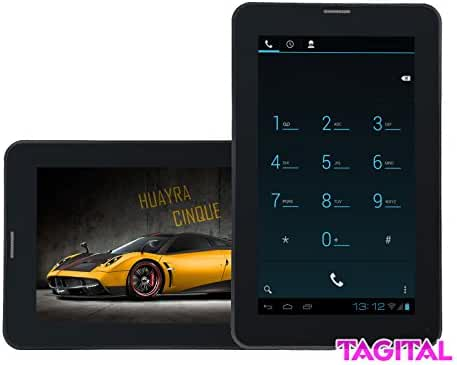 Tagital 7-Inch 32GB TF Android 4.4 KitKat Bluetooth Dual Camera Unlocked Phone Tablet (Black/White)