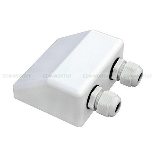 Solar Weatherproof ABS Solar Double Cable Entry Gland for All Cable Types for Solar Project on Rv, Campervan, Boat Trailers Motorhome