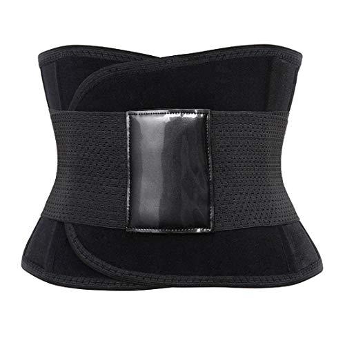 Zhitunemi Women's Waist Trainer Belt Waist Cincher Trimmer Workout Tank Top Vest Sport Girdle Belt for Weight Loss Black Large