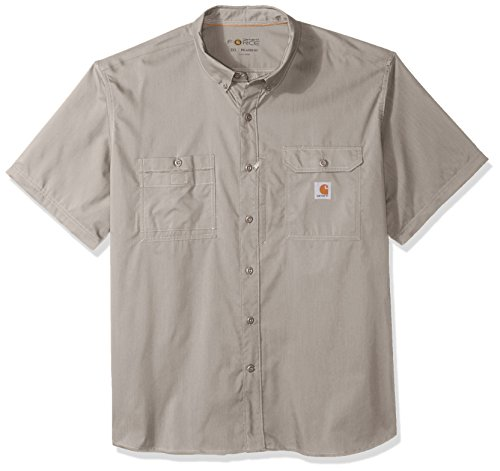 Carhartt Men's Big and Tall Force Ridgefield Short Sleeve T-Shirt (Regular and Big & Tall Sizes), Asphalt, - Utility Shirt Sleeve Short