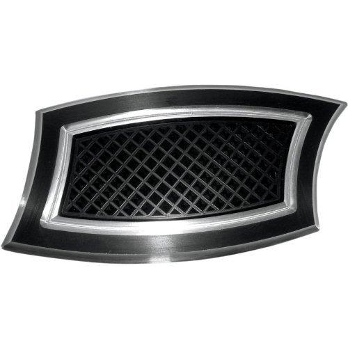 EDDIE TROTTA DESIGNS Rear Brake Pedal Cover Sloped Black Anodized/Reverse Cut (Anodized Rear Brake Pedal)