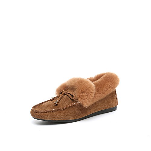 cotton warm fringed flat brown shoes boots shoes shoes Korean thickened flat non plush slip IqwSA4R