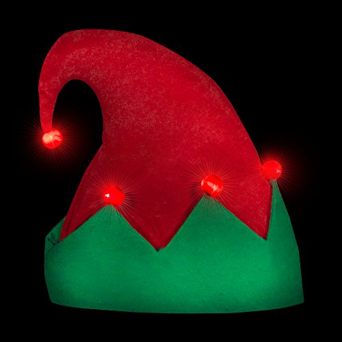 Windy City Novelties LED Flashing Elf Hat - http://coolthings.us