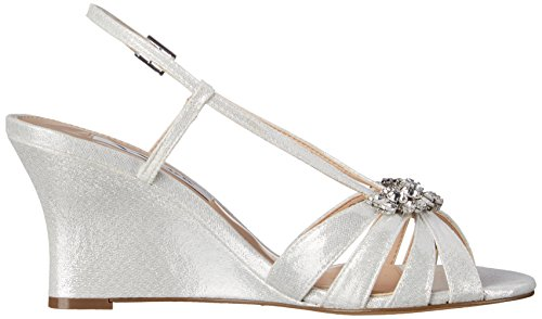 Nina Women's Viani Wedge Sandal Silver amazing price sale online f1s4mch7v