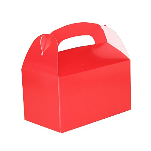 Red Bright Color Treat Boxes (Pack of 12) - Play Kreative TM (Red) (Box Of Goodies)