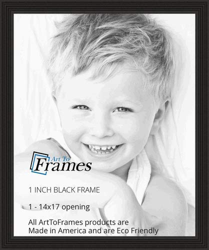 ArtToFrames 14x17 inch Black Stain on Red Leaf Maple Wood Picture Frame, 2WOM0066-60823-YBLK-14x17 ()