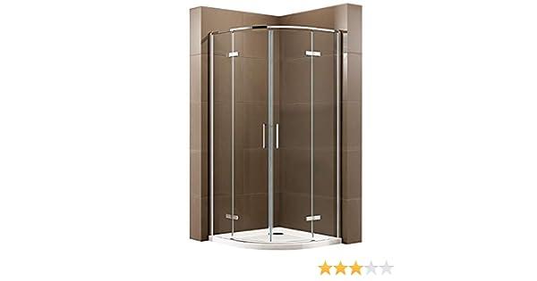 Cabina de ducha de cuarto de círculo con puerta giratoria EX406A ...