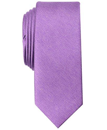 Original Penguin Men's Solid Satin Super Slim Tie, Purple, One Size by Original Penguin