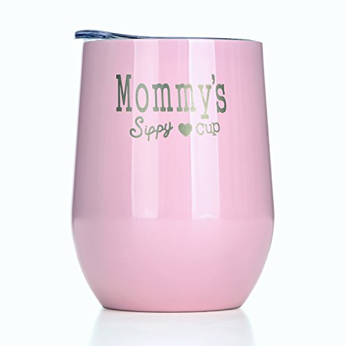 y Cup Personalized Women Travel Mug Made Of Double Wall StainlessSteel Perfect For Martini Beer Water Milk Drinks 12 Oz Pink (Milk Glass Beer)