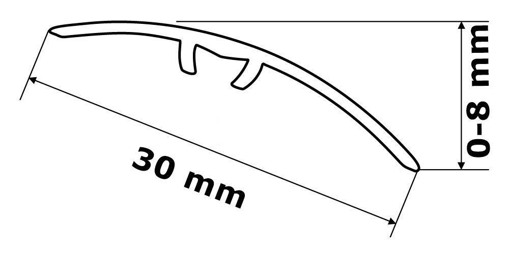 GAH-alberts 491246 profil/é de compensation anpassungsprofil 30 mm en aluminium anodis/é-c-01 or