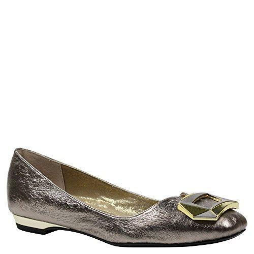J. Renee Women's Tustin Ballet Flat,Taupe/Gold Metallic Nappa,US 10 - Taupe Footwear Patent