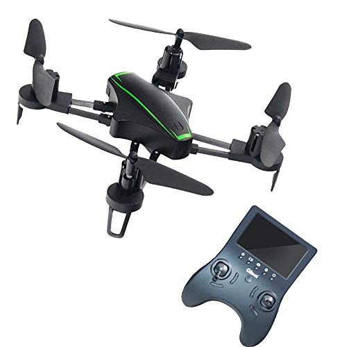 UniDargon T912F Folderable RC Drone 2.4Ghz Four-Axis for Kids with 720HD Camera,5.8G FPV Real-time Image Transmission and Headless Mode Quadcopter Easy Fly Steady for Beginners(Black) (S)