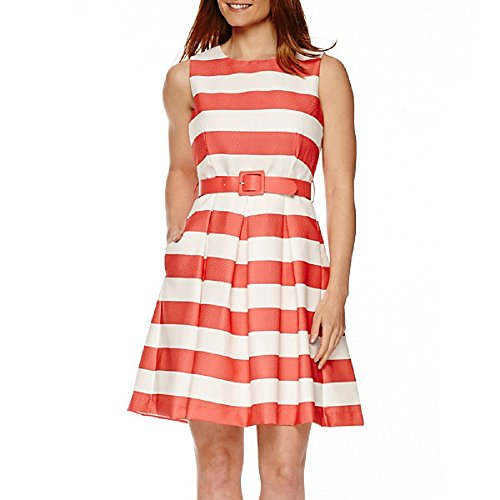 R&K Originals Sleeveless Stripe Fit-and-Flare Dress for sale  Delivered anywhere in USA