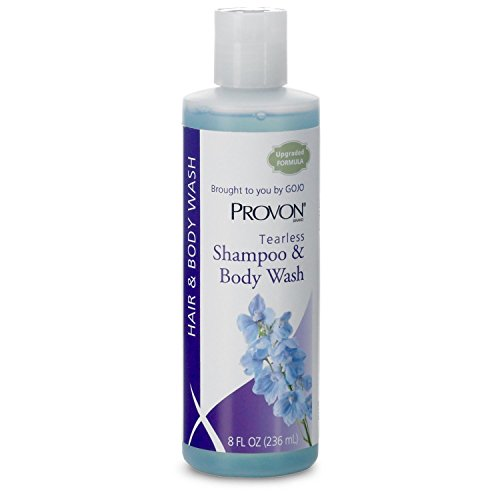 PROVON 4502-48 Tearless Shampoo and Body Wash, 8 fl. oz. Squeeze Bottle, Clean Fragrance (Case of 48) ()