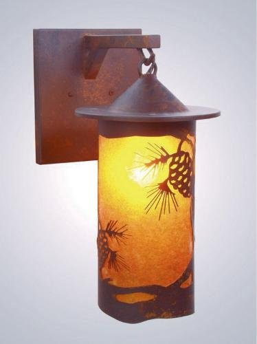 Steel Partners Hanging Sconce - Pasadena Pinecone - Pasadena Craftsman Pendant Light