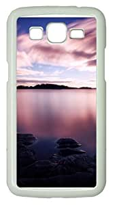 Dusk Long Exposure Polycarbonate Hard Case Cover for Samsung Grand 2/7106 White