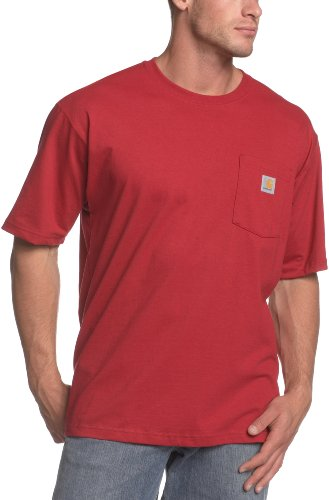 (Carhartt Men's Workwear Pocket Short Sleeve T-Shirt Original Fit K87,Independence Red  (Closeout),X-Large Tall)