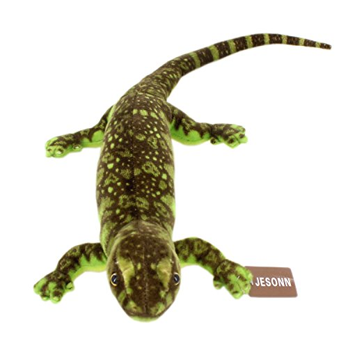 Jesonn Realistic Soft Stuffed Animals Toy Lizard Plush for Kids' Gifts,Green,33.5