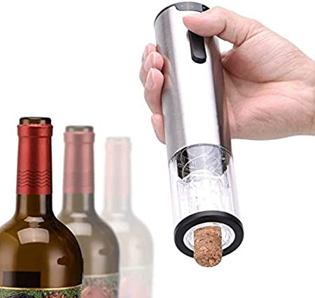 Sacacorchos Abrelatas de Vino Abridores de botella abridor Sacacorchos Sacacorchos eléctrico del abrelatas del vino de la batería de litio de acero inoxidable abridor automático de potencia de visuali