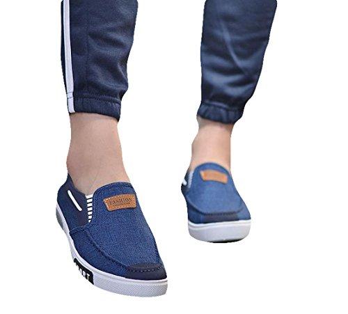 Ein bißchen Herren mode casual Atmungsaktive Slipper Mokassins Blau