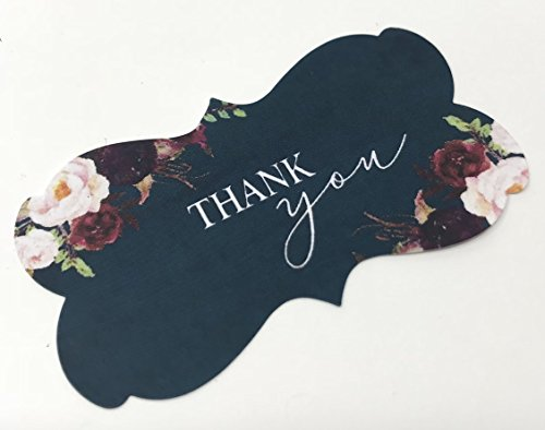 Navy Blue Thank You Stickers Fancy Frame Stickers Burgundy Wine Blush Flowers Navy Blue Background Floral Stickers Thank You Labels Favor Stickers Navy Burgundy And Blush Wedding Favors Buy Online In Bahamas