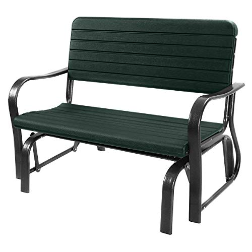 Swinging Bench Outdoor Rocking Chairs for Porch Swings Patio Rocker Garden Seat Glider Loveseat Steel Frame