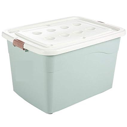 Caja de almacenamiento práctica única Almacenamiento de ropa Caja de plástico Colcha con ruedas Caja de