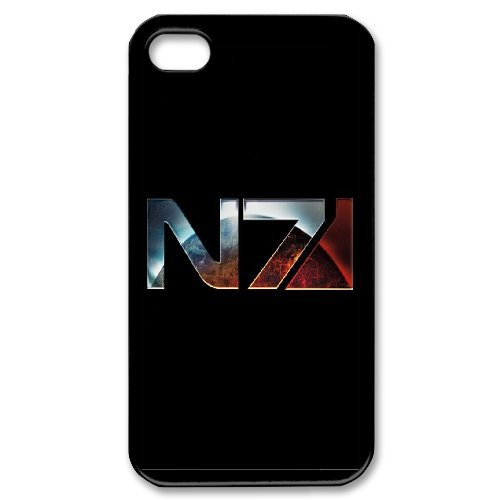 Mass Effect N7 Phone Case And One Free Tempered-Glass Screen Protector For iPhone 4,4S T257882