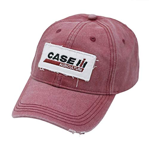 Case IH Logo Ladies Cap, One Size, Red Stone Wash