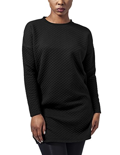 Urban Classics Ladies Quilt Oversize Dress, Vestido para Mujer Negro (Black 7)