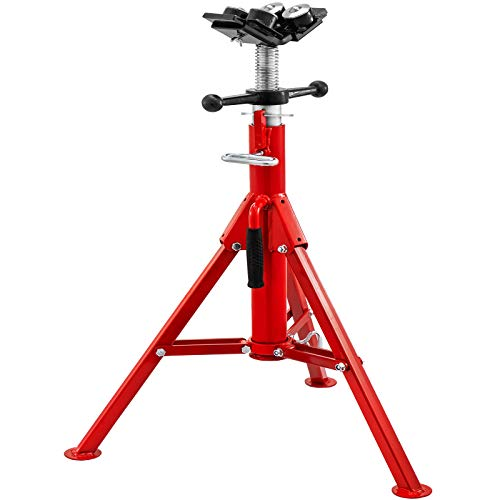 Mophorn Pipe Jack Stand With 4-Ball Transfer V-Head and Folding Legs 4500LB Welding Pipe Stand Adjustable Height 28-52IN 1107A-type Pipe Jacks for Welding
