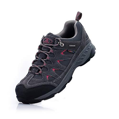 Damen amp; Wanderschuhe rosa Trekking TFO Schuhe Rutschfeste Outdoor und Wasserabweisende Sohle Atmungsaktive mit Herren Dunkelgrau WqUI66pn5