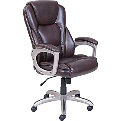 Deluxe Executive Big U0026 Tall Commercial Office Chair, Padded Back With  Memory Foam For Maximum Comfort With Padded Armrest, Ergonomic And Durable,  ...