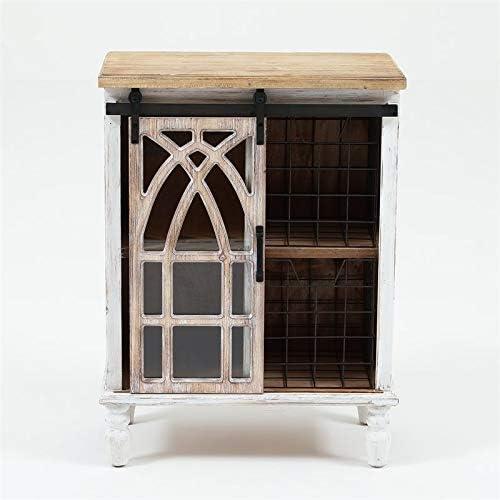 Pemberly Row Decorative Sliding Door Wood Cabinet