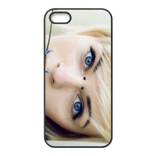 Blonde Piercings Tattoos 85271 coque iPhone 5 5S cellulaire cas coque de téléphone cas téléphone cellulaire noir couvercle EOKXLLNCD22308