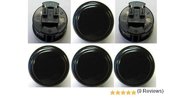 Sanwa 8 pcs OBSF-30 Black OEM Arcade Push Button (Mad Catz