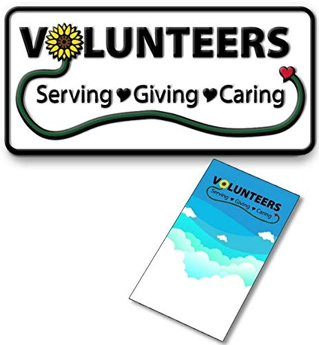 Volunteer Lapel Pin with Gift Card (Pack of 12) Appreciation Awards for National Volunteer Week … (12) -