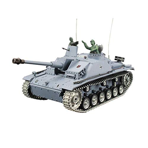 TIEHUE Electric RC Toys Tank, German III III-F8 Assault Tank 2.4Ghz Remote Control 1/16 Scale Model, Metal Track…