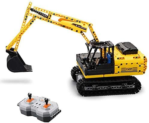 2.4G R/C Crawlers Graafmachine Voertuig Bouwstenen Set Speelgoed, Educatieve afstandsbediening Bouw Bulldozer Toy, Building Learning Toy for Kids, 544 PCS
