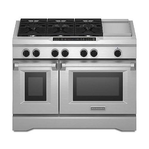 Kitchenaid KDRS483VSS Commercial Style Dual Fuel Range
